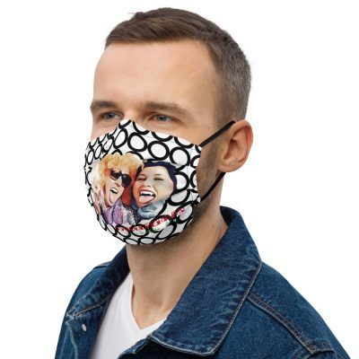 all over print premium face mask black left 60a7bf8095d77